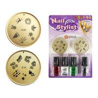 Set za Nail Art sa šablonima i lakovima za nokte TYPE4