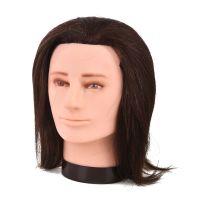 Training Head Natural Hair COMAIR Gentleman Brown 35cm