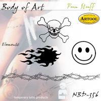 Airbrush šablon za telo Zabavno