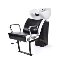 Ceramic Shampoo Chair for Hair Washing NS-5515 with Adjustable Chair Black and White