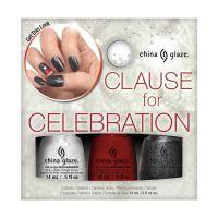 Nail Polishe Set CHINA GLAZE Claus For Celebration 3x14ml
