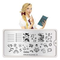 Stamping Nail Art Image Plate MOYOU Scholar 05