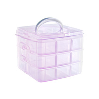 Container Manicure Accessories ASNBOX7 Pink
