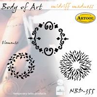 Body Art Stencils Midriff Madness