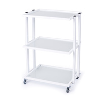 Cosmetic trolley M3028A with three glass shelves