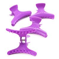 Plastic Hair Clips Purple 4pcs
