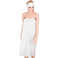 Polyester and Viscose White Shower Wrap 91550