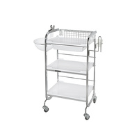 Cosmetic trolley M3007A multifunctional with three shelves and one drawer