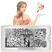 Stamping Nail Art Image Plate MOYOU Mother Nature 01