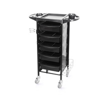 Trolley for Hair Salons M-3011B with 5 Drawers and Multi-Functional Shelf