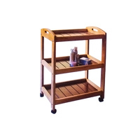 Cosmetic trolley DM5026 with three shelves and wooden construction