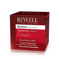 Tightening Night Cream for Lifting Facial Contours REVUELE Bioactive Collagen&Elastin 50ml