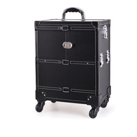 Beauty Case for Tools and Accessories GALAXY C-1041 Black with Wheels