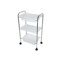 Cosmetic trolley M3002 with three shelves