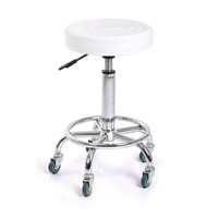 Pomoćna radna stolica NV98006 sa naslonom za noge i podešavanjem visine bez naslona za leđa
