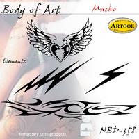 Body Art Stencils Macho