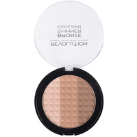 Bronzer za konturisanje lica 3u1 MAKEUP REVOLUTION Ultra Bronze, Shimmer and Highlighter 15g