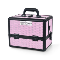 Cosmetic Case for Tools and Accessories GALAXY TC-1432PG Pink Glitter Design
