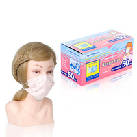 Protective Pink Face Mask 50/1