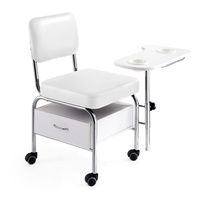 Manicure chair DP3501 with armrest and drawer