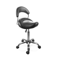 Cosmetic Stool Y1012 black with Backrest