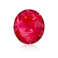 Nail Crystals SWAROVSKI A 2058 Xilion Rose Enhanced SS5 Ruby 40/1