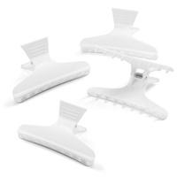 Plastic Hair Clips White 12pcs