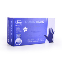 Protective Nitrile Gloves Powder Free ROIAL Blue S 100pcs