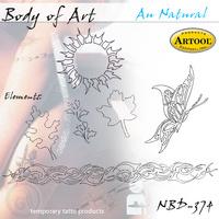 Body Art Stencils - Au Natural