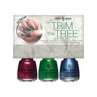 Nail Polish Set CHINA GLAZE Trim The Tree 3x14ml