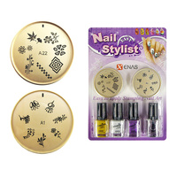 Set For Nail Art With Stencils And Nail Polishes TYPE7