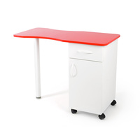 Manicure table 6642 with one drawer and one compartment