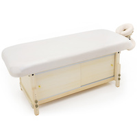 Cosmetic bed for massage, depilation and treatments SKF Beige with compartment