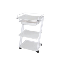 Cosmetic trolley M3005 with three shelves and one drawer