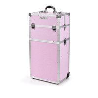 Beauty Case for Tools and Accessories GALAXY TC-3270PGS Pink Twopiece with Wheels