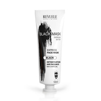 Crna maska sa aktivnim ugljem za dubinsko čišćenje kože lica REVUELE Express Detox 80ml