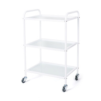 Cosmetic trolley M3030 with three glass shelves