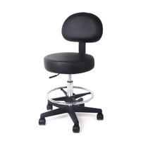 Cosmetic Stool MS01/H Height Adjustable with Backrest and Footrest