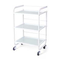 Cosmetic trolley M3031 with three glass shelves