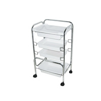 Cosmetic trolley M3003 with three shelves and one drawer