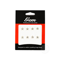 Nail Stickers Stars 76702 Silver/Gold