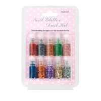 Nail Glitter Dust Kit NGK01 10pcs