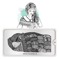 Stamping Nail Art Image Plate MOYOU Doodles 05