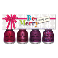 Nail Polishe Set CHINA GLAZE Be Merry 4x9.76ml