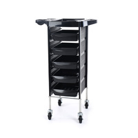 Trolley for Hair Salons NV-38032 with 5 Drawers and Multi-Functional Shelf