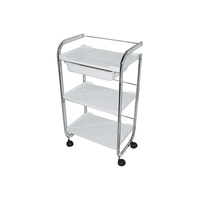 Cosmetic trolley M3007 with three shelves and one drawer