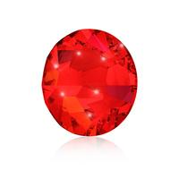 Nail Crystals SWAROVSKI A 2058 Xilion Rose Enhanced SS5 Siam 40/1