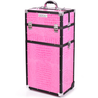 Beauty Case for Tools and Accessories GALAXY TC-3270PCB Pink Twopiece with Wheels