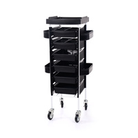Trolley for Hair Salons NV-38028 with 6 Drawers without Holder for Hair Dryer