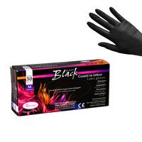 Latex Gloves BLACK 50/1-S